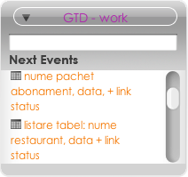 GTD for iCal widget screenshot