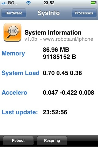 iPhone System Information
