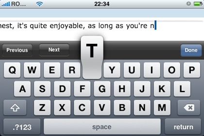 Blogging with an iPhone: add post content rich text editor