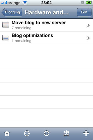 Projects in sub-folder in OmniFocus for iPhone