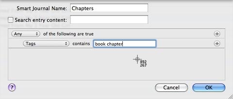 MacJournal Ebook Chapter