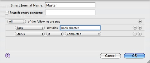 MacJournal Ebook master Journal