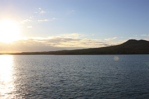 Rangitoto Island - view from Wiaheke Ferry