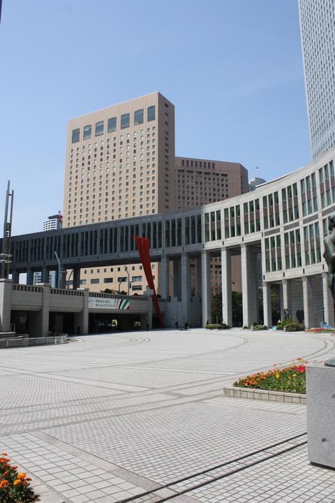 Tokyo Metropolitan Government Building Empty Yard