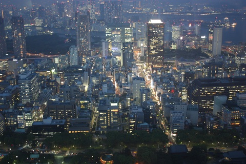 Tokyo View From Tokyo Tower (Sumida River In The Back) - Night View