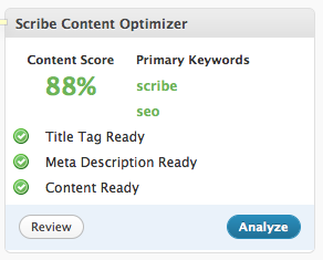 SEO Scribe analysis ready