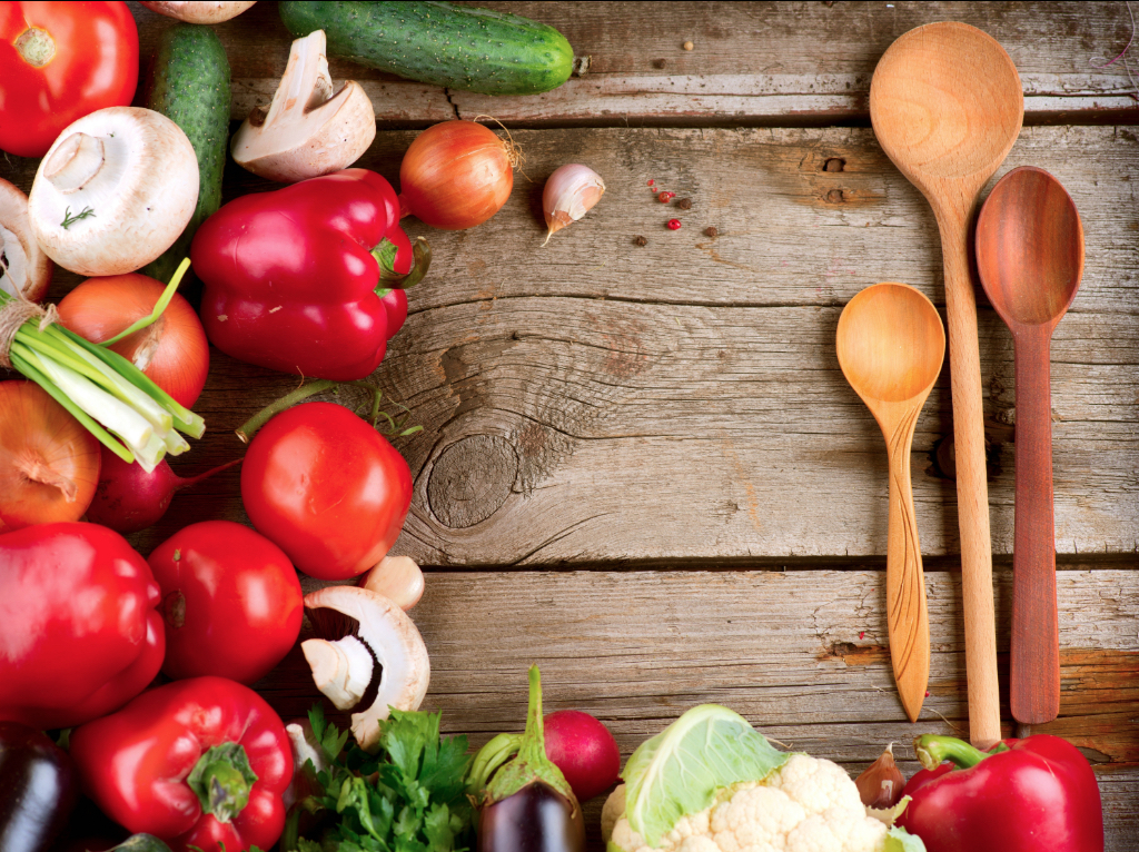 Fresh Vegetables On The Wooden Table Wallpaper 5000×3745