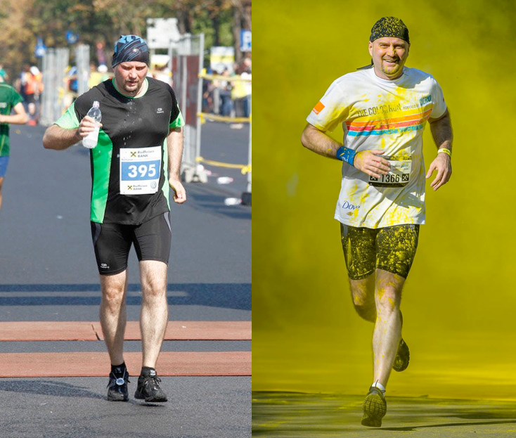 Before And After – Or How To Lose Weight By Running