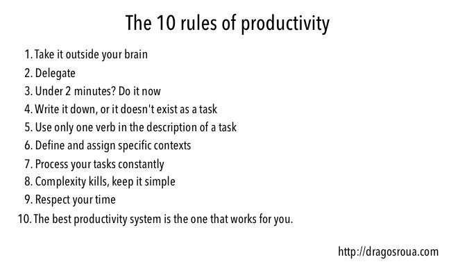 the 10 rules of productivity